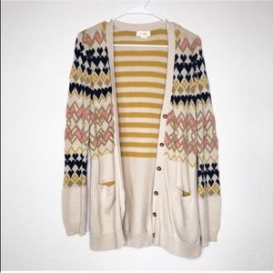 Anthropologie Sweaters - Anthro Fiets Voor 2 Button Front Chunky Cardigan
